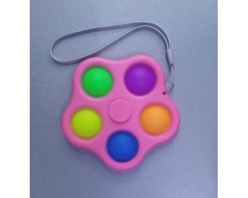 Игрушка антистресс Pop It Simple Dimple Спинер симпл димпл Pink 521-02