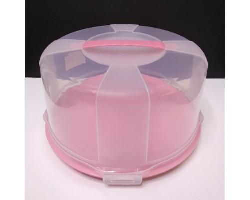 Тортовница с крышкой 30 х 17 см SPlast 94098 розовая