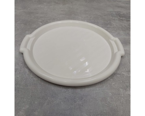 Поднос пластиковый Алеана круглый 39,0 х 36,5 х 2,5 см белая роза 167098