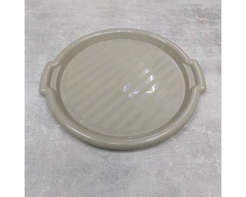 Поднос пластиковый Алеана круглый 39,0 х 36,5 х 2,5 см какао 167098
