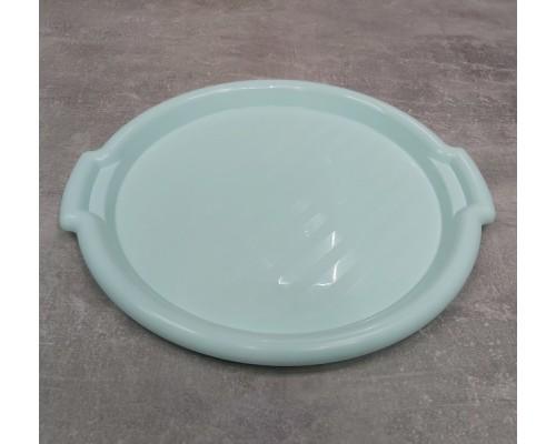 Поднос пластиковый Алеана круглый 39,0 х 36,5 х 2,5 см мятный 167098
