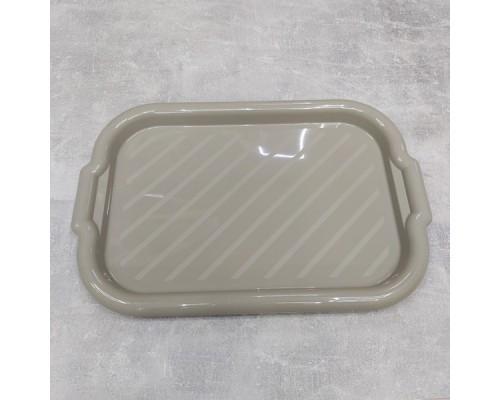 Поднос пластиковый Алеана прямоугольный 45*30*4 какао 168039