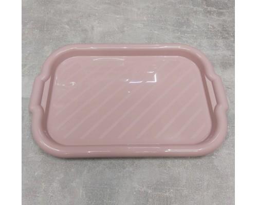 Поднос пластиковый Алеана прямоугольный 45*30*4 фрезия 168039