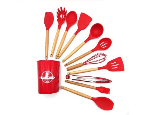 Набор кухонных предметов Kitchen Dining 12 предметов 0350 Красный