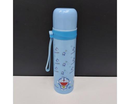 Термос детский 500 мл. A-PLUS из нержавеющей стали голубой 1630