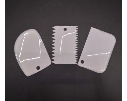 Набор кондитерских шпателей скребков A-Plus 3 шт 8675 белый