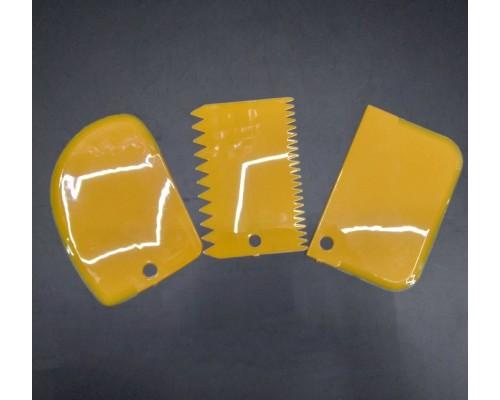 Набор кондитерских шпателей скребков A-Plus 3 шт 8675 желтый