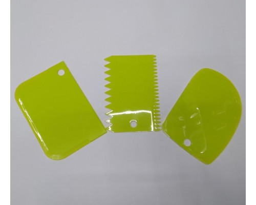 Набор кондитерских шпателей скребков A-Plus 3 шт 8675 оливковый
