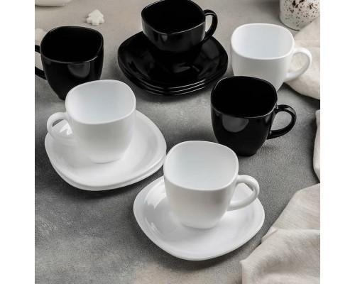 Набор чайный Luminarc Carine Black/White 220 мл 12 предметов 2371D LUM