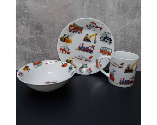 Детский набор столовой посуды  для мальчика Milika Motor Land 3 предмета ML0690-6
