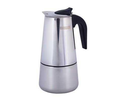 Кофеварка гейзерная 600мл (12 порций) из нержавеющей стали KM-0663