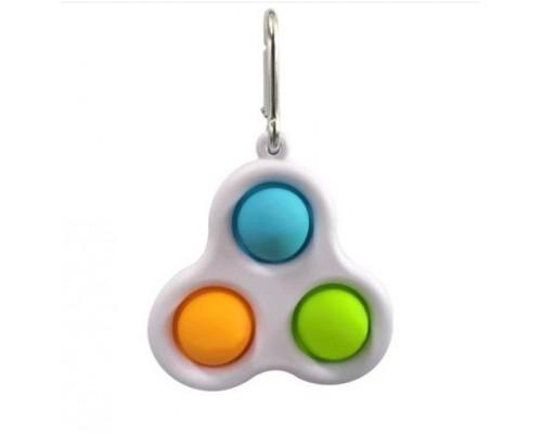Сенсорная игрушка антистресс Simple Dimple (Pop it) брелок 155-03