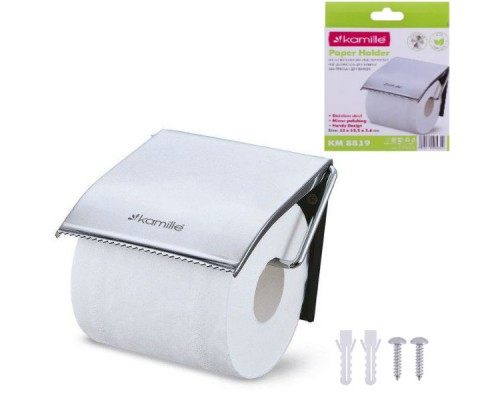 Держатель для туалетной бумаги 12 х 12.3 х 1,6 см Kamille 8819 PM