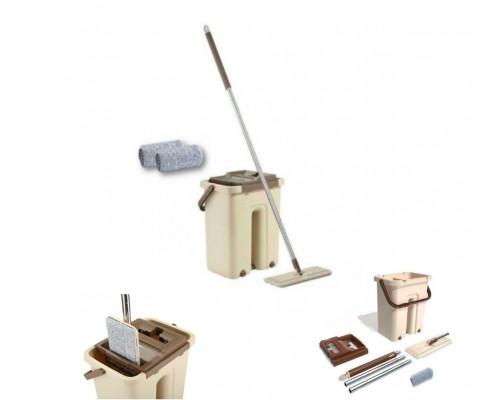 Комплект для уборки Supretto швабра с ведром и самоотжимом Бежевая 576 AK PM