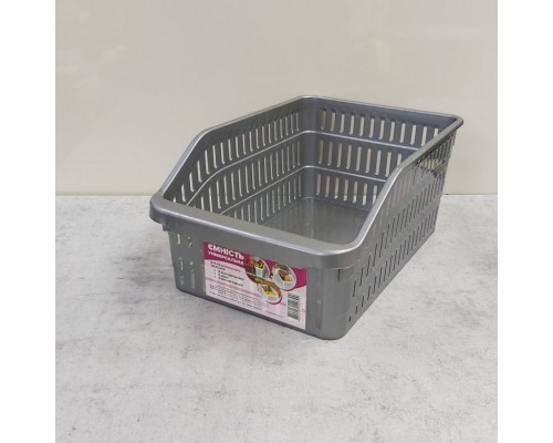 Лоток в холодильник Полимербыт 20 x 30 х 14 см серый ПБ-799