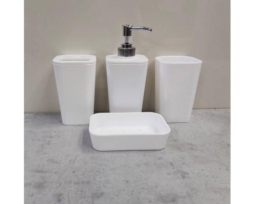 Набор аксессуаров для в ванной комнаты SORRENTO Feniks 4 предмета белый
