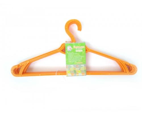 Вешалка для одежды 5 шт оранжевая Алеана 121073-4 PM