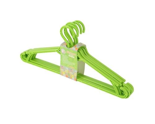 Вешалка для одежды 5 шт зеленый Алеана 121073 PM