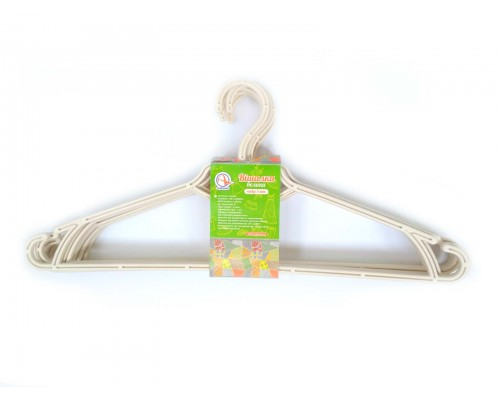 Вешалка для одежды 5 шт белая роза Алеана 121073 PM