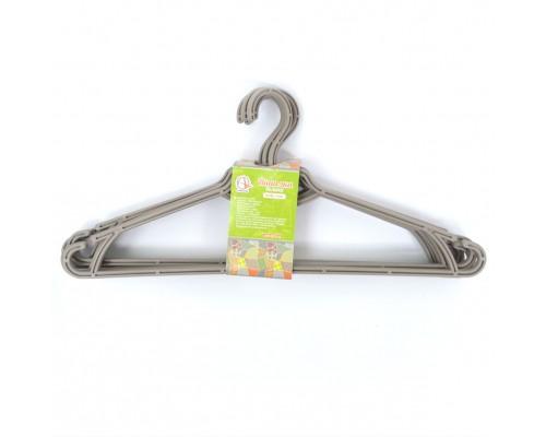 Вешалка для одежды 5 шт какао Алеана 121073 PM